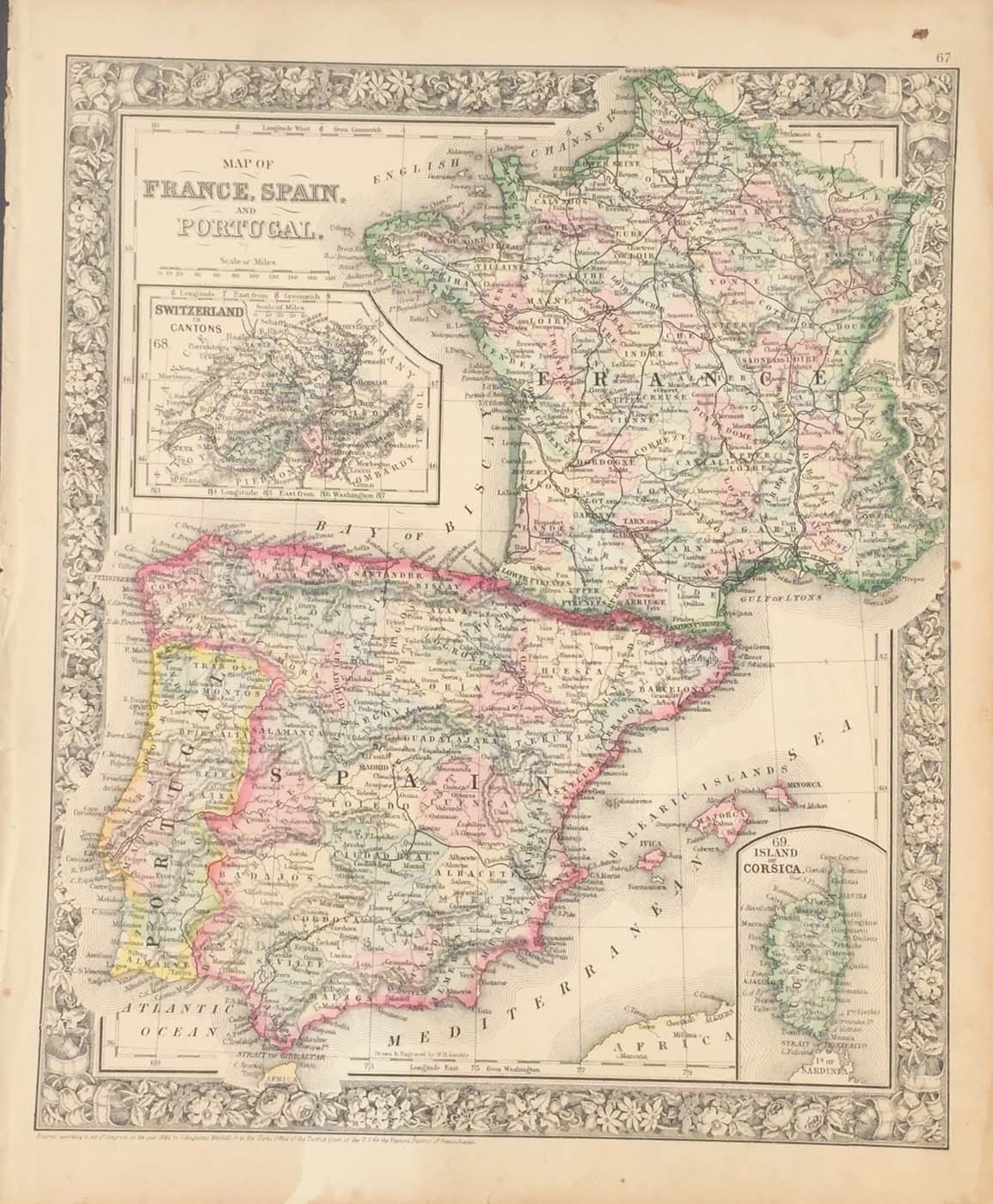 Map Of Spain Portugal And France.France Spain Portugal
